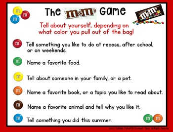 The M&M Game by Downeast Teach | Teachers Pay Teachers