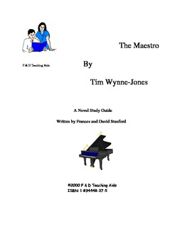 The Maestro Novel Study Guide