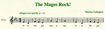 The Mages Rock! - The Perfect Song to Start Your Music Lesson and Teach Solfège
