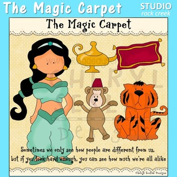 The Magic Carpet Princess Clip Art C. Seslar