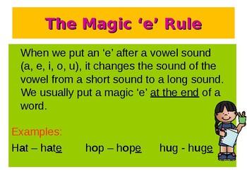 The Magic 'E' Rule / The Bossy 'E' Rule