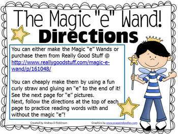 """The Magic """"E"""" Wand for the Vowel A"""