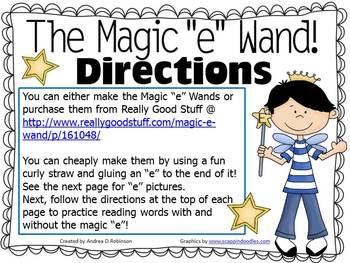 "The Magic ""E"" Wand using Multisyllable Words"