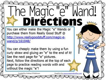 "The Magic ""E"" Wand with Blends and Digraphs Using Vowel U"
