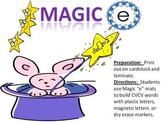 "The Magic ""E"" - a cvcv word building activity using the silent e"