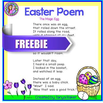 The Magic Egg Easter Poem - Freebie