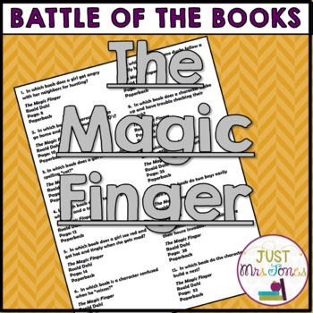 The Magic Finger Battle of the Books Trivia Questions