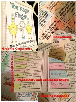 The Magic Finger Novel Study- Interactive Notebooking