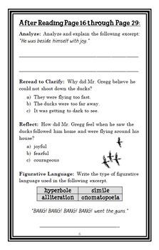 The Magic Finger (Roald Dahl) Novel Study / Reading Comprehension  (20 pages)
