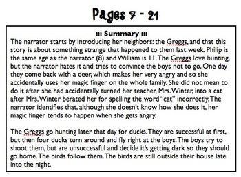 The Magic Finger Student Response & Teacher Guides - CCSS Aligned!