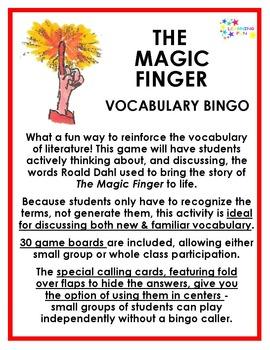 The Magic Finger Vocabulary Bingo