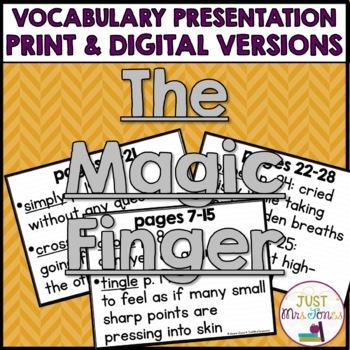 The Magic Finger Vocabulary Presentation