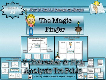 The Magic Finger by Roald Dahl Character & Plot Analysis Tri-Folds