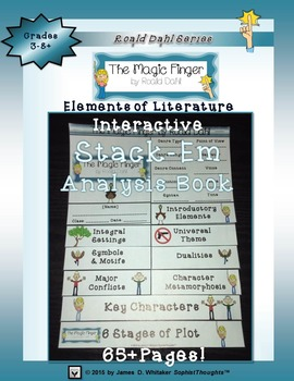 The Magic Finger by Roald Dahl Interactive Stack-Em Analysis Book