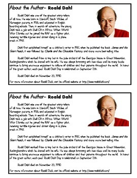 The Magic Finger, by Roald Dahl: Reading Response Notebook