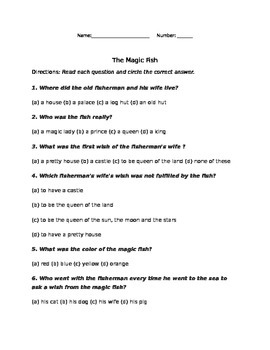 The Magic Fish QUIZ