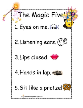 The Magic Five for Listening Mini Poster