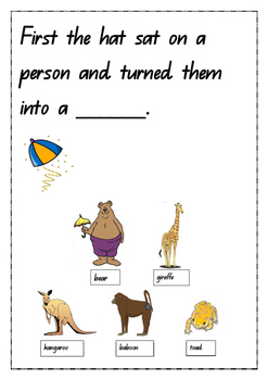 The Magic Hat By Mem Fox Comprehension Exercise By U Beaut