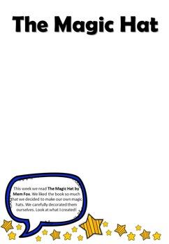 The Magic Hat by Mem Fox: Student Portfolio Page