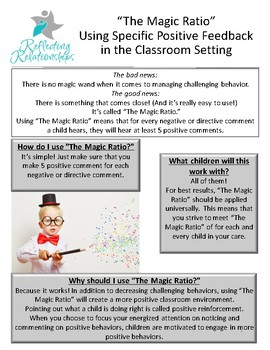 The Magic Ratio: Using Specific Positive Feedback in the Classroom Setting