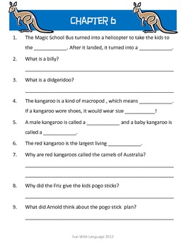 The Magic School Bus #10 Expedition Down Under Worksheets Science Australia