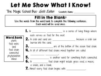 The Magic School Bus: Gets Eaten - Video Journal