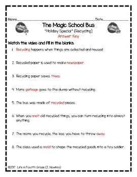 The Magic School Bus: Holiday Special [Recycling] (Video Guide)
