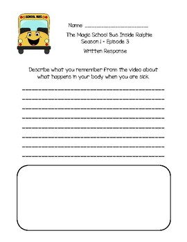 The Magic School Bus Inside Ralphie - Questions and Writing