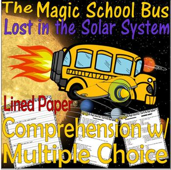 Magic School Bus Lost in the Solar System : Reading Comprehension Quiz Questions
