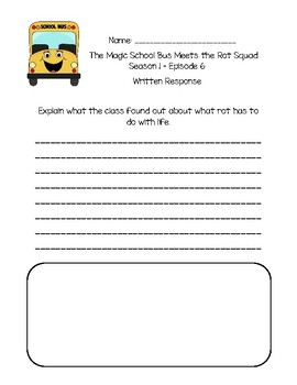 The Magic School Bus Meets the Rot Squad - Questions and Writing