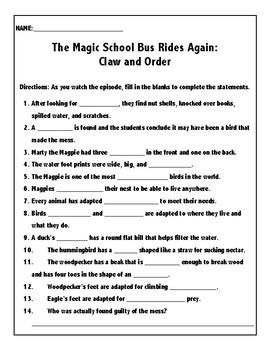 The Magic School Bus Rides Again: Claw and Order