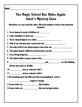 The Magic School Bus Rides Again: Janet's Mystery Gene