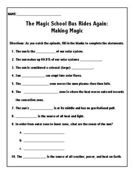 The Magic School Bus Rides Again Making Magic By Madison Deyoung
