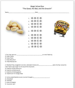 The Magic School Bus Rides Again - The Good, The Bad, and the Gnocchi - Quiz