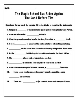 The Magic School Bus Rides Again: The Land Before Tim