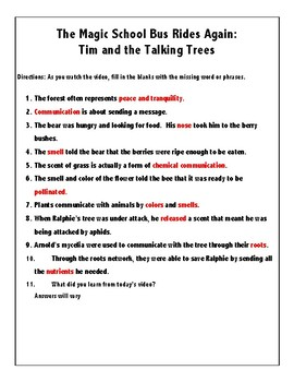 The Magic School Bus Rides Again: Tim and the Talking Trees