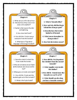 The Magic School Bus TWISTER TROUBLE -Discussion Cards