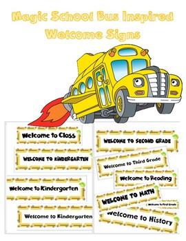 The Magic School Bus and Ms. Frizzle Inspired Welcome Signs