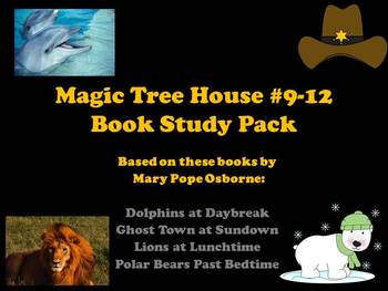 The Magic Tree House #9-12 Book Study Pack