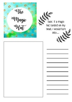 The Magic hat printable template