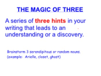 The Magic of Three Suspenseful Writing Smartboard Lesson