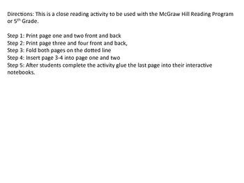 """""The Magical Lost Brocade"" Reading Wonders 5th Grade Unit 2 Week 4"