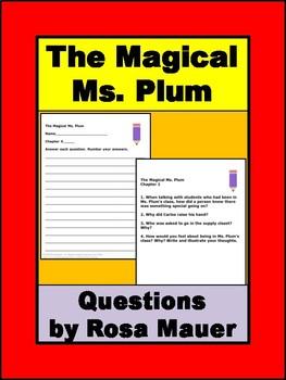 The Magical Ms. Plum Book Unit
