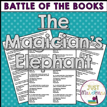 The Magician's Elephant Battle of the Books Trivia Questions