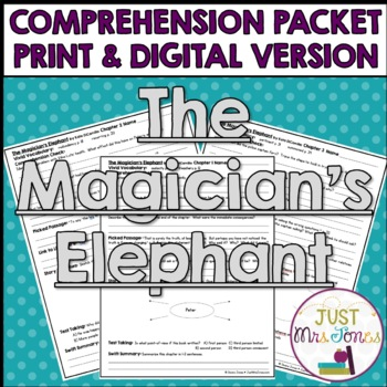 The Magician's Elephant Comprehension Packet
