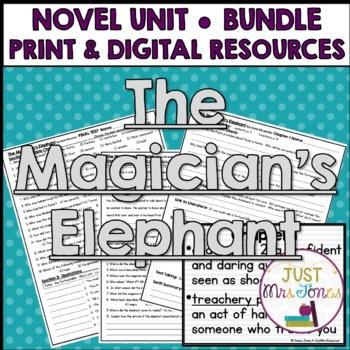 The Magician's Elephant Novel Unit