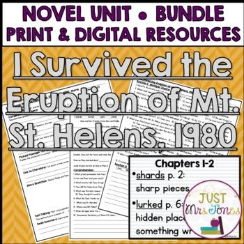 I Survived The Eruption of Mount St. Helens, 1980 Novel Unit