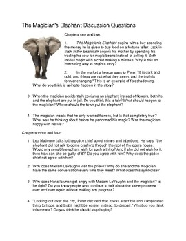 The Magician's Elephant Study Guide for Book Club