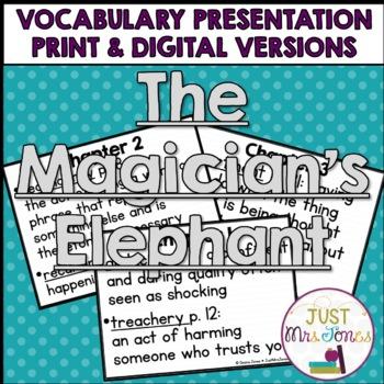 The Magician's Elephant Vocabulary Presentation