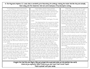 The Magician's Nephew - Writing Your Own Fanasty Story (Novel as Mentor Text)